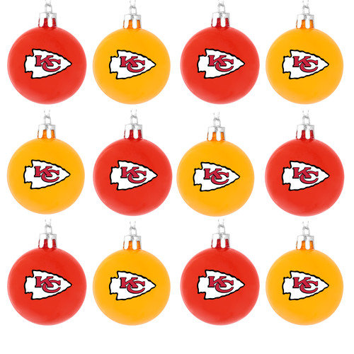 Forever Collectibles NFL Ball Ornament (Set of 12)