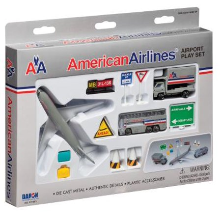 Daron Airport Series American Airlines Diecast Vehicle Set