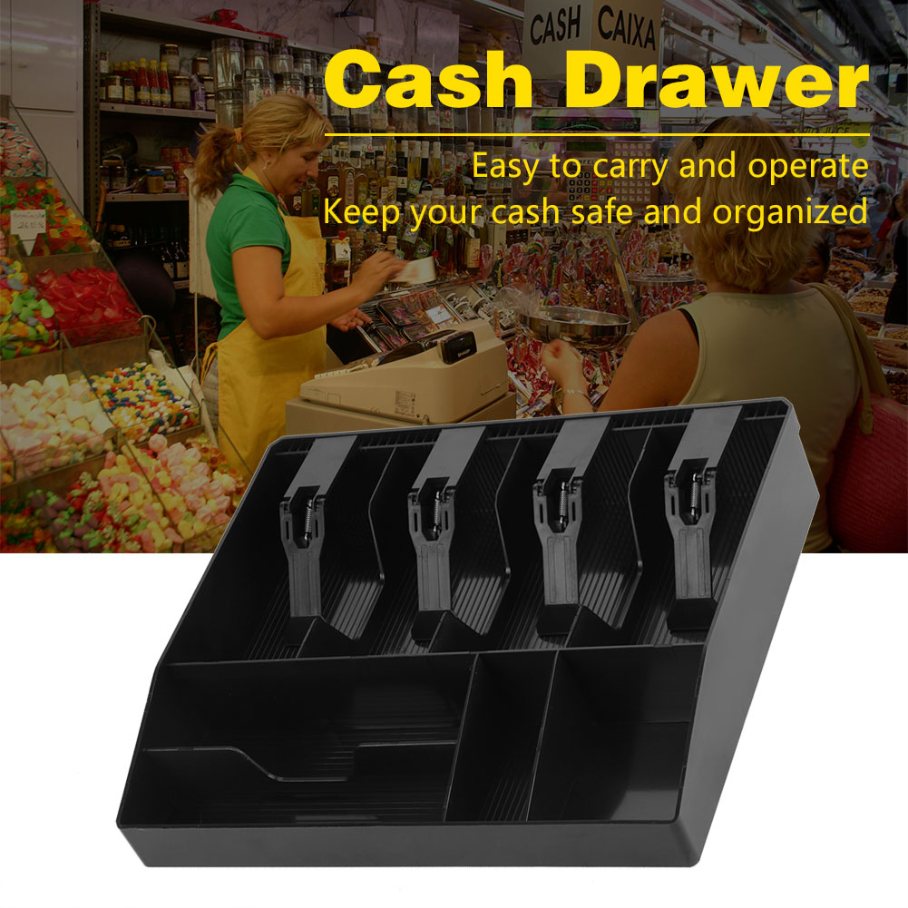Eight Grids Cash Drawer Register Insert Coin Tray Cashier Tidy Storage Safe Box, Cash Storage Tray, Coin Tray