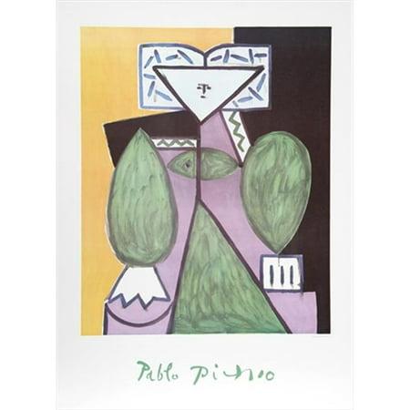 Pablo Picasso 14458 Femme En Vert Et Mauve  44  Lithograph On Paper 29 In  X 22 In    Green  44  Purple  44  Black  44  Green
