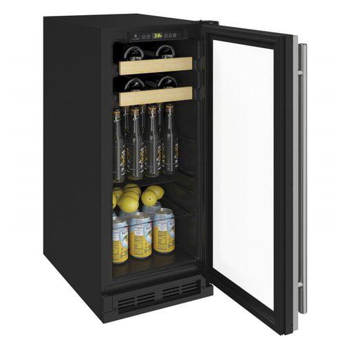 U-Line 1000 Series Reversible Hinge Stainless 13'' 3 cu. ft. Undercounter Beverage Center