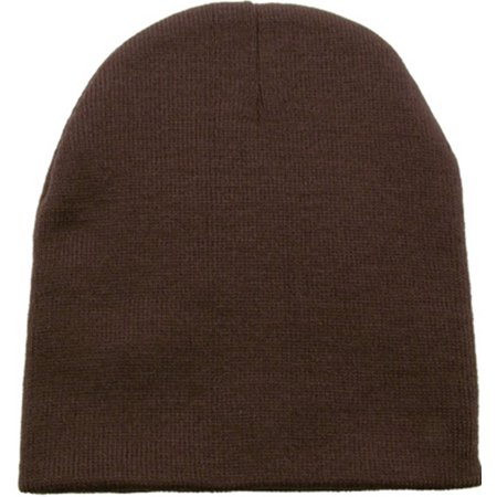 Men / Women's Winter Knit Ski & Snowboard Beanie Hat, 1036_Brown (Brown Hat)
