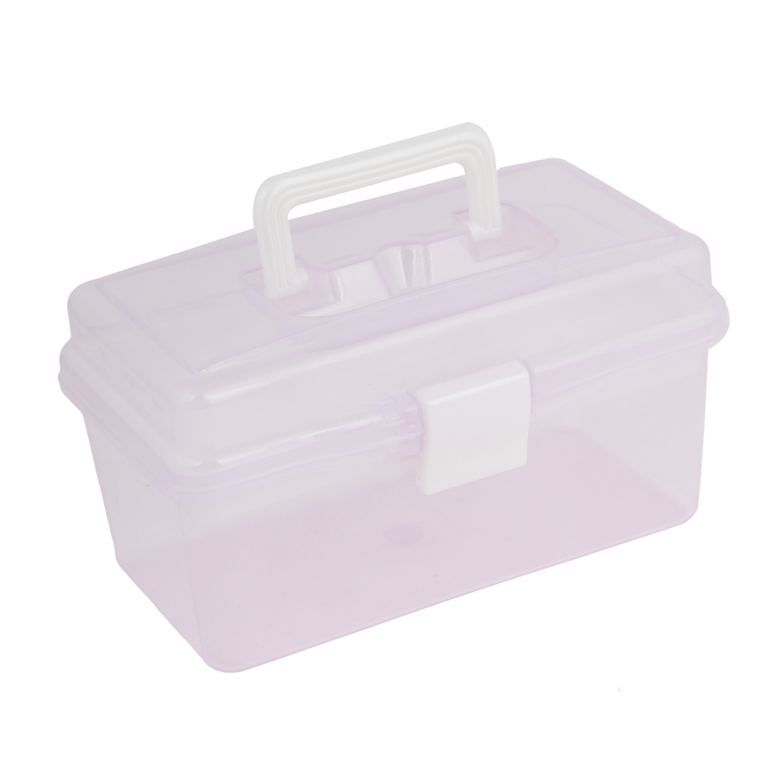 Uxcell a13091200ux0403 Rectangular Shaped 2 Layers Tool Storage Box Case with Handle, Purple by Unique-Bargains
