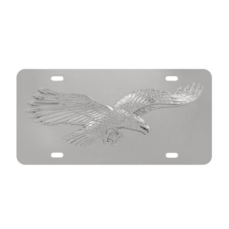American Eagle Plate (Metal License Plate Automotive Universal 3d Eagle Stainless Steel License)