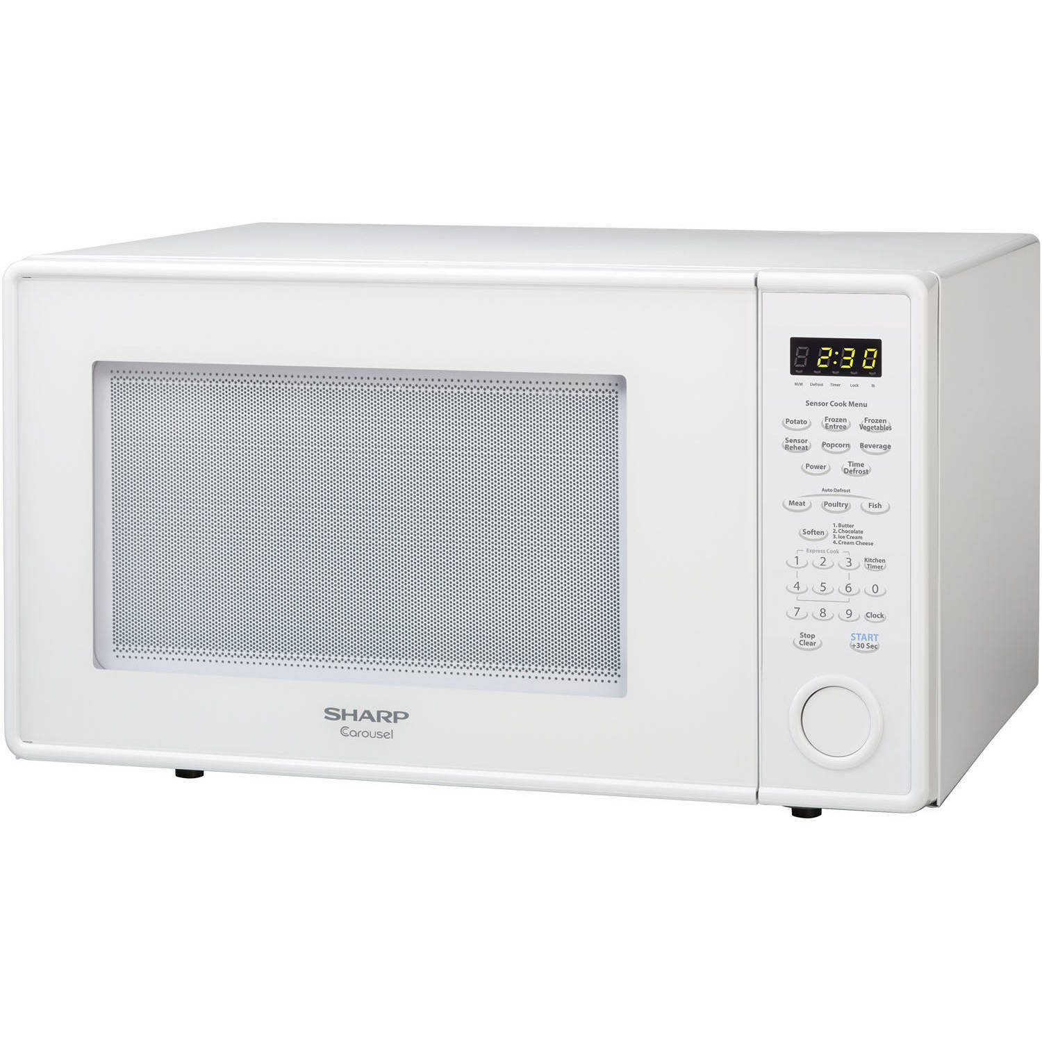 Sharp R559yw Carousel Countertop Microwave Oven 1 8 Cu Ft 1100w White