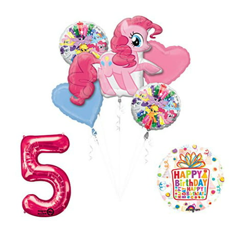 My Little Pony Pinkie Pie 5th Birthday Party Supplies and Balloon Decorations