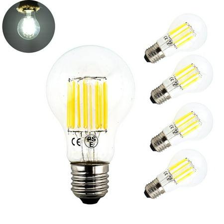 Bonlux 10w A19 Edison Style Vintage Led Filament Bulb Medium E26 Base Clear Gl Decorative Light 100 Watt Incandescent Replacement