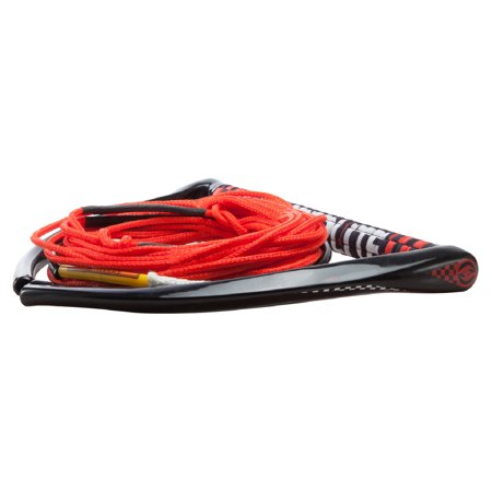 Leather Package - Hyperlite 2018 Chamois w/ Fuse Line (Red) Wakeboard Rope & Handle Combo