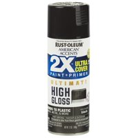(3 Pack) Rust-Oleum American Accents Ultra Cover 2X Ultimate High Gloss Black Spray Paint and Primer in 1, 12 oz