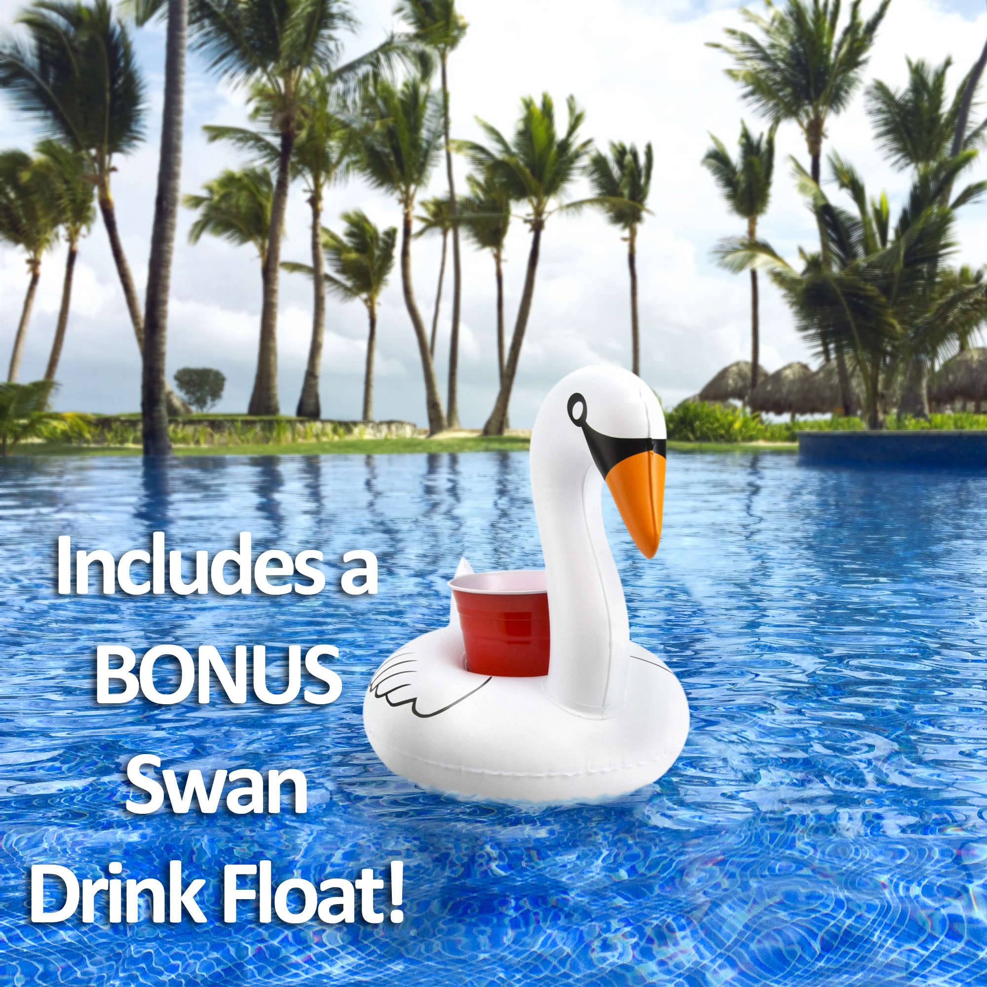 GoFloats Giant Inflatable Swan Swimming Pool Float Raft - New 2018 ...