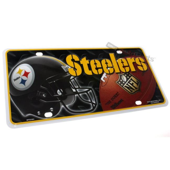 SmallAutoParts Aluminum License Plate - Pittsburgh Steelers