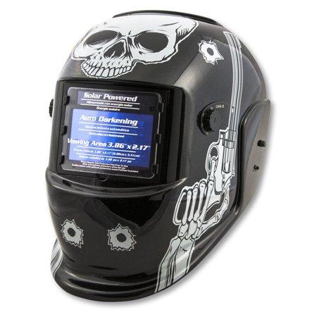 Titan 41282 Auto Darkening Welding Helmet   Skull And Pistols