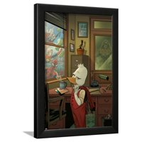 Howard the Duck No. 1 Cover, Featuring: Howard the Duck, Spider-Man, Captain Marvel, Thor (Female) Framed Poster Wall Art By Joe Quinones