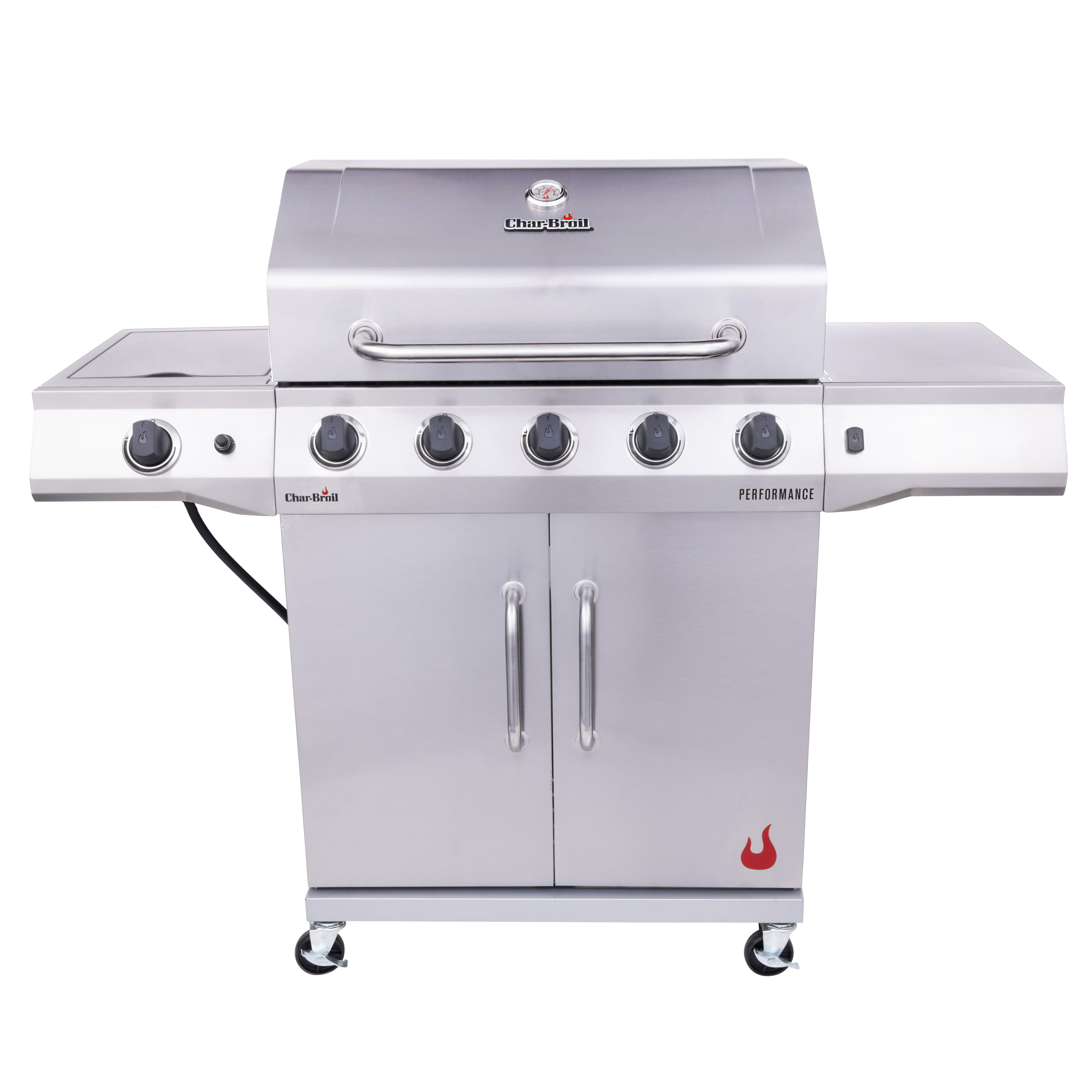 Char Broil Performance Stainless Steel 5 Burner Liquid Propane Lp Cabinet Style Outdoor Gas Grill Walmart Com Walmart Com
