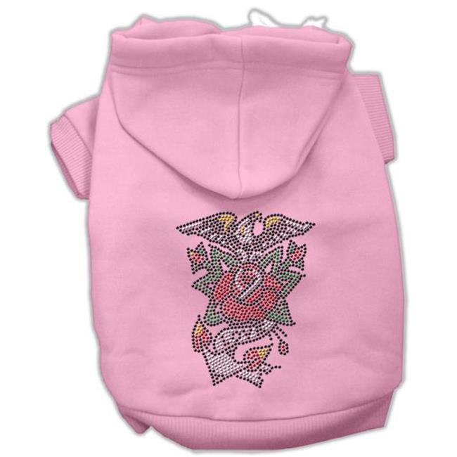 Mirage Pet Products 54-27 MDPK Eagle Rose Nailhead Hoodies Pink M - 12