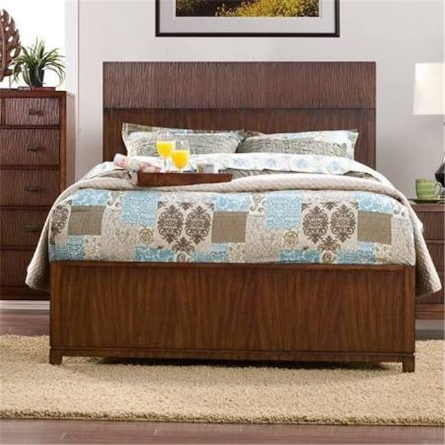 Alpine Furniture ORI-711-07EK Loft Eastern King Panel Bed, Dark Walnut - 56 x 80 x 85 inch