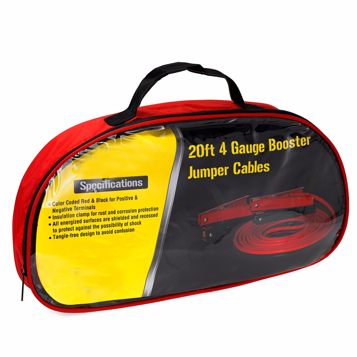 20ft 4 Gauge Power Jumper Cable Starter Booster 20 Ft Feet Red Wire Best Quality