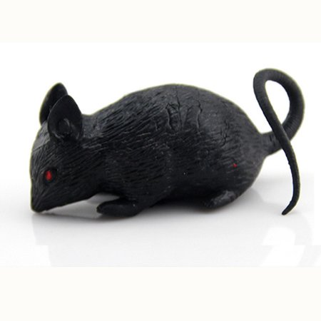 L - Funny Joke Fake Lifelike Rubber Mouse Prop Halloween Gift Toy (Halloween Joke Memes)