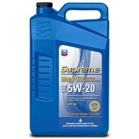(3 Pack) Chevron Supreme Motor Oil, 5W20