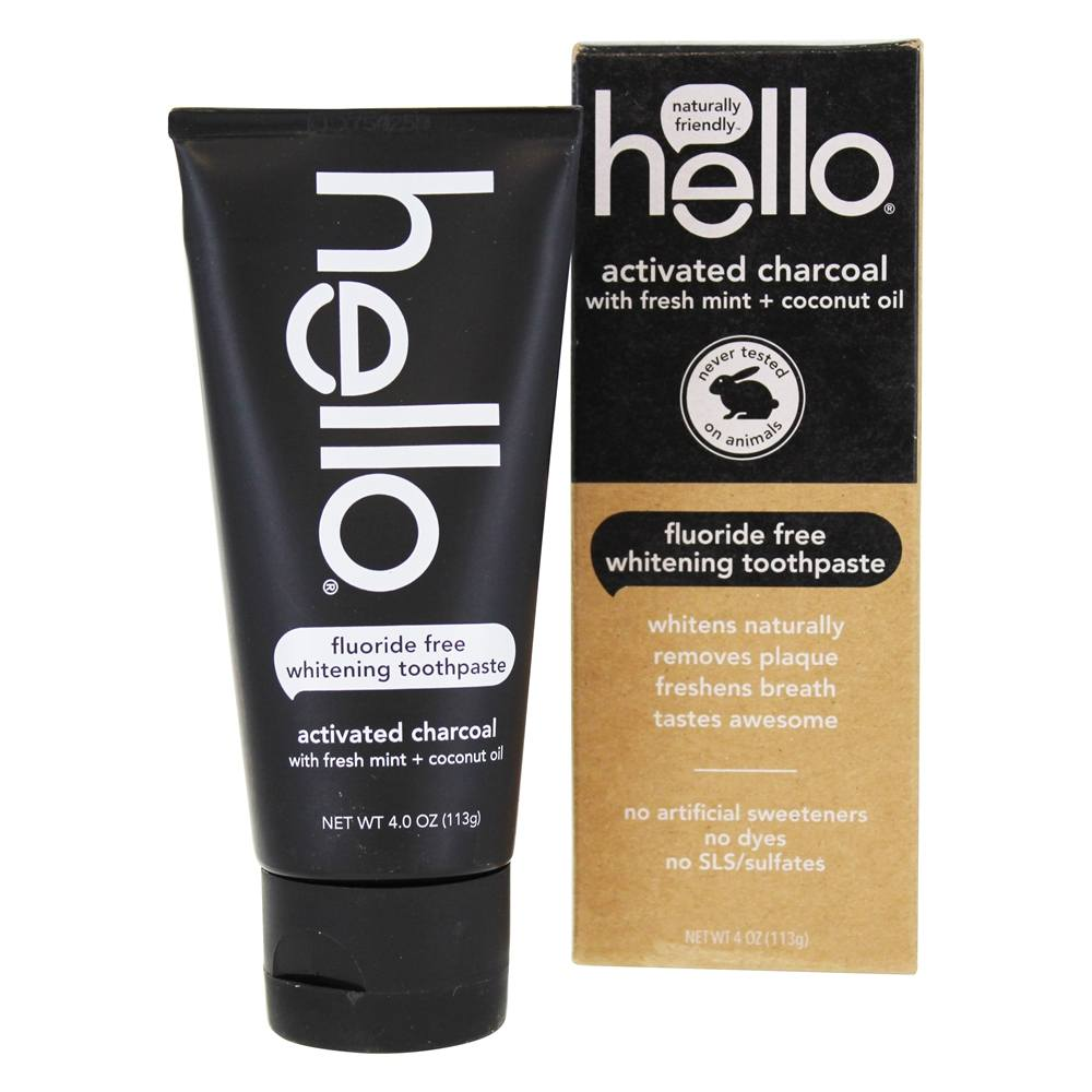 Hello Activated Charcoal Whitening Toothpaste Walmart Com