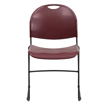 Flash Furniture HERCULES Series 880 lb. Capacity Ultra Compact Stack Chair with Black Frame Multiple Colors(Base UPC:0081258101782)