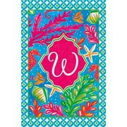 Custom Decor Tropical Welcome Monogram - W Garden Flag  #2833FM