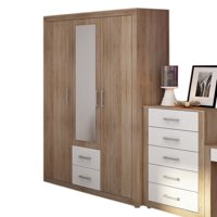 Furniture.Agency Viki 2 Drawer Wardrobe With Mirror
