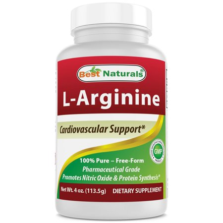 Best Naturals L-Arginine Powder 4 OZ - 100% Pure - Free Form - Pharmaceutical Grade