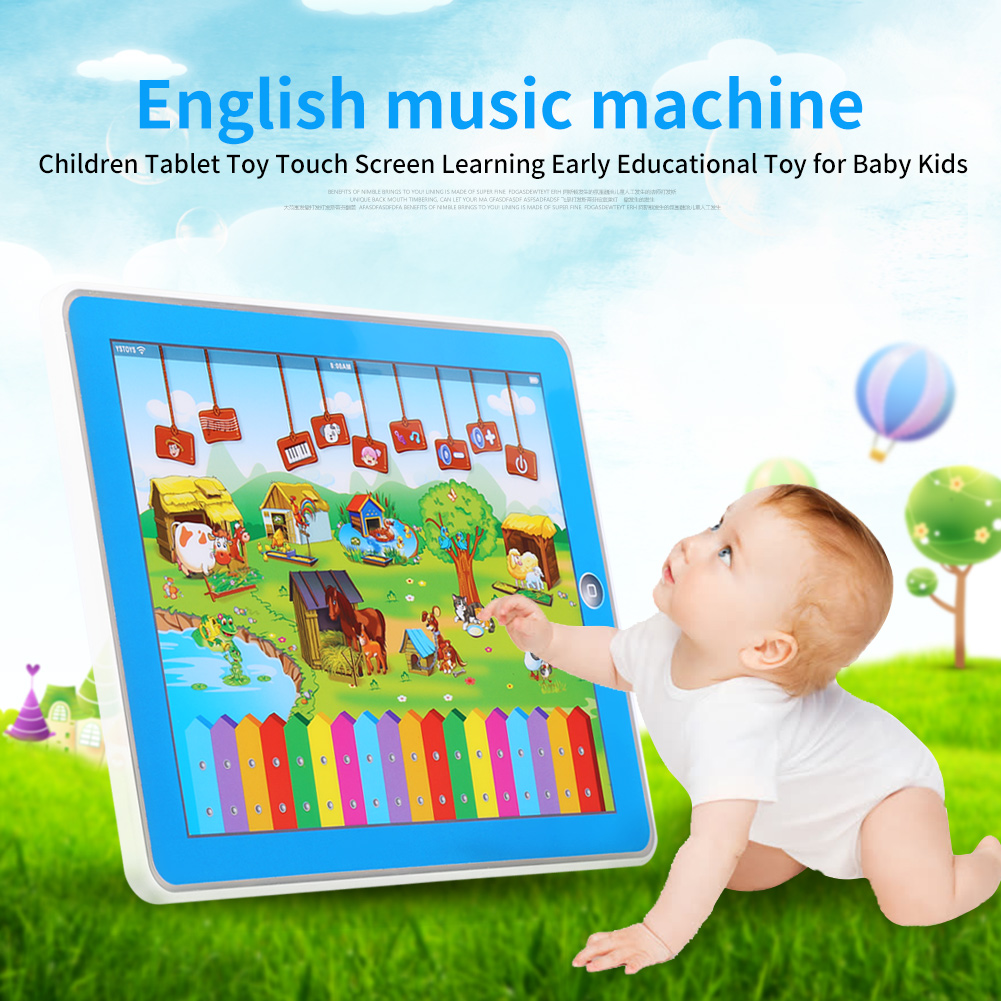 Children Tablet Toy,Touch Screen Tablet Study Learning English Toys Educational Music Computer toy for for Baby Kids