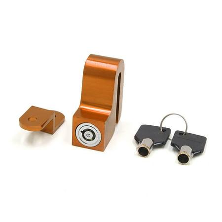 Orange Aluminum Alloy Motorcycle Anti-thief  Disc Brake Rotor Lock w 2 - Disc Brake Center Lock Rotor
