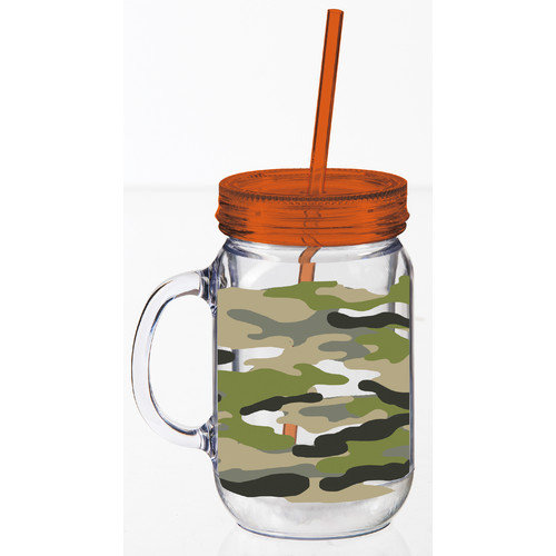 Cypress Home Camo Print Double Walled Mason Jar Cup