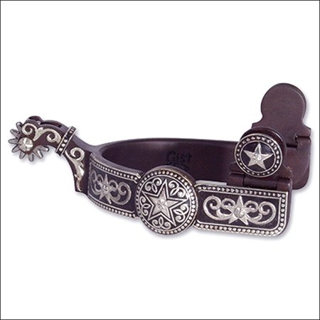 Classic Equine Spurs (CLASSIC EQUINE MEDIUM GREAT ALL AROUND AND ROPING GIST DESIGN STAR DOT SPUR)