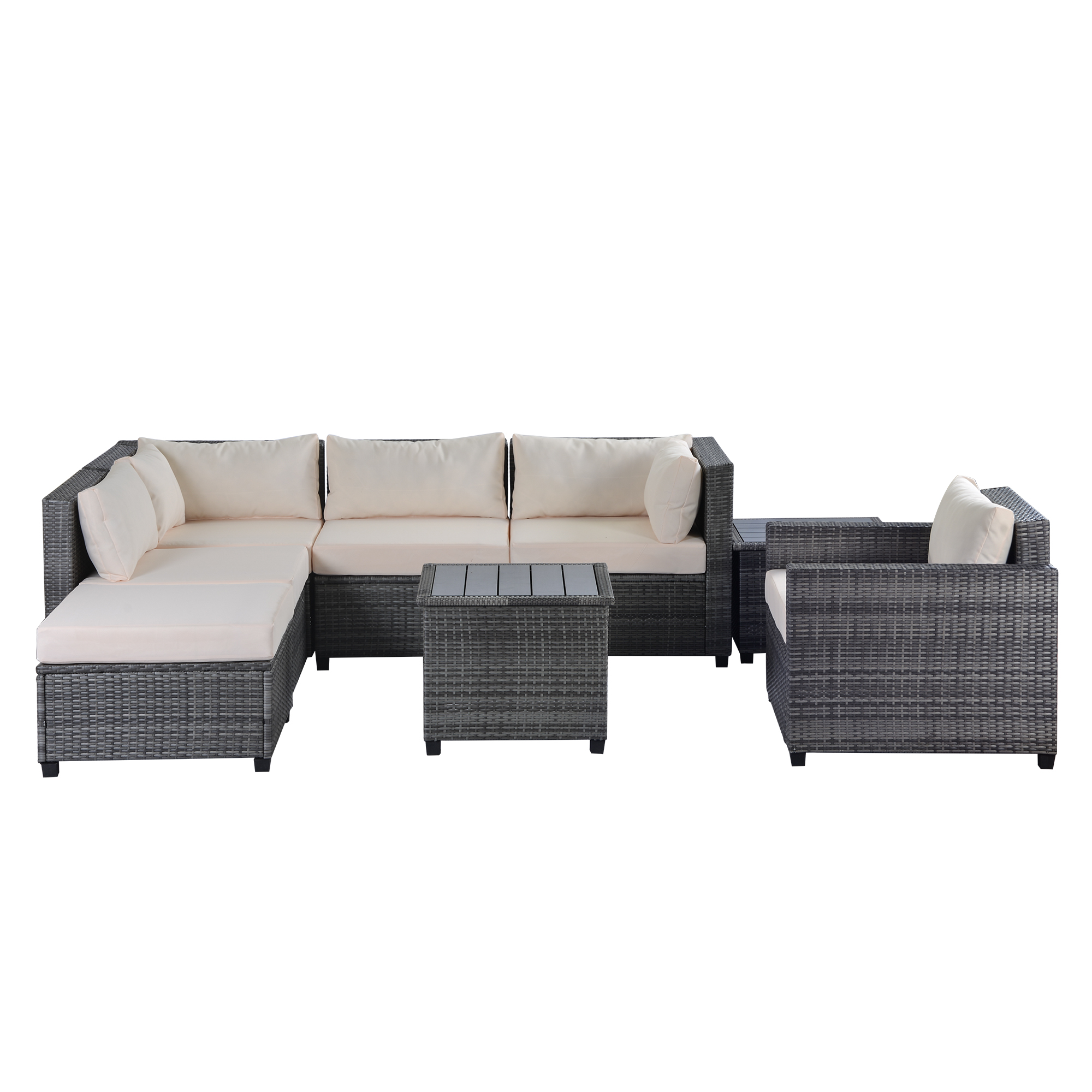 Outdoor Graden Patio Conversation Furniture Sets, 8-Piece ...