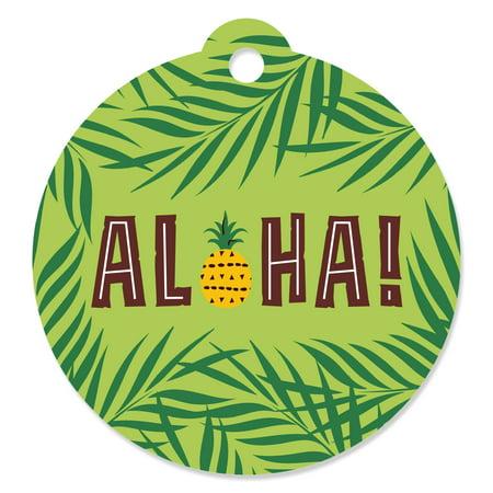Tiki Luau - Tropical Hawaiian Summer Party Favor Gift Tags (Set of 20)