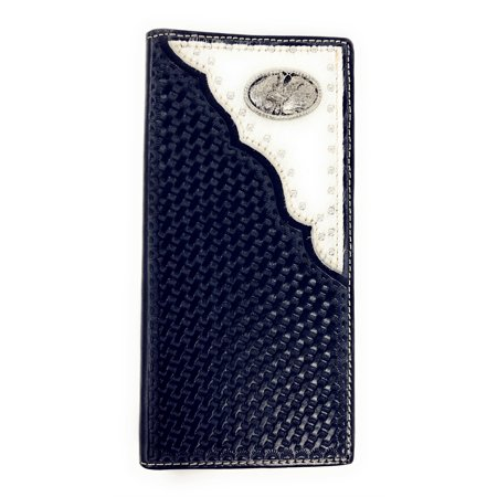 Rodeo Wallet - Premium Western Genuine Woven Leather Cow Fur Rodeo Mens Bifold Wallet In Multi Color