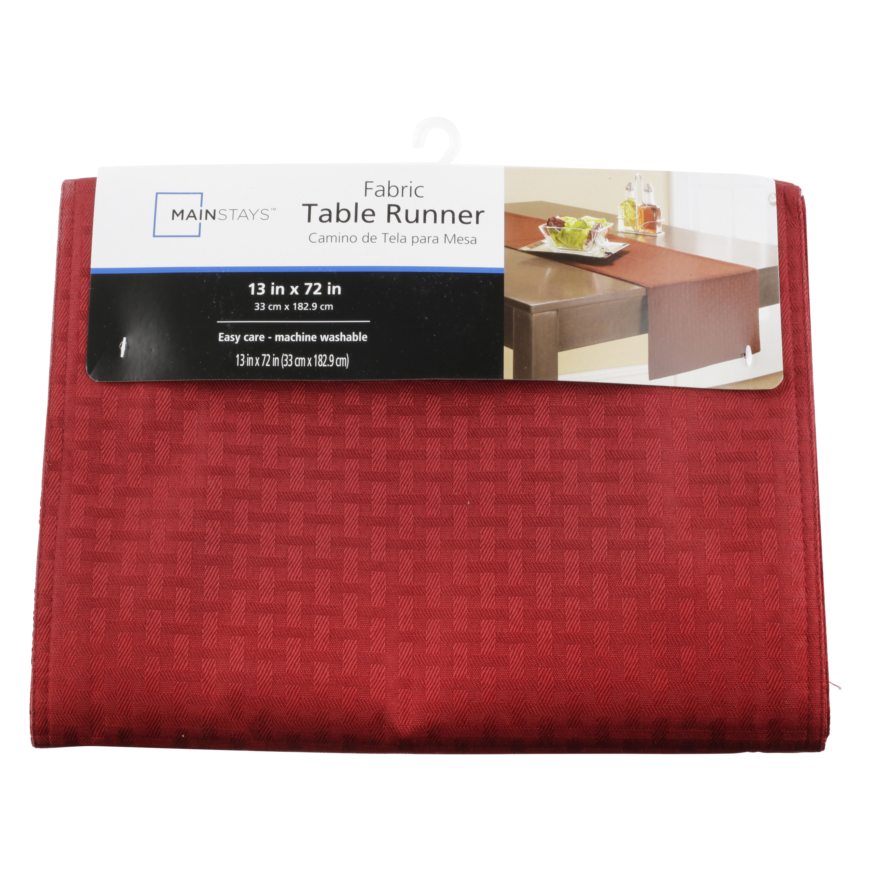 Mainstays Hyde Table Runner, Red