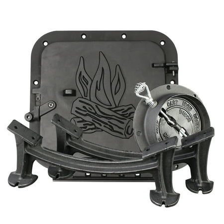 United States Stove Company BSK1000 Cast Iron Single Barrel Camp Stove Kit ()