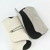 AkoaDa Retro Spectacle Box Leather Soft Bag Sunglasses Box Simple Glasses Bag