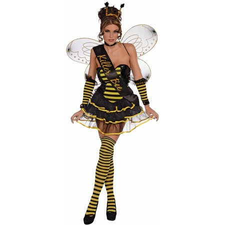 Killer Bee Queen Honey Bumble Sash Womens Adult Halloween Costume Accessory
