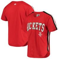 Houston Rockets Starter Playmaker Baseball Jersey Shirt - Red