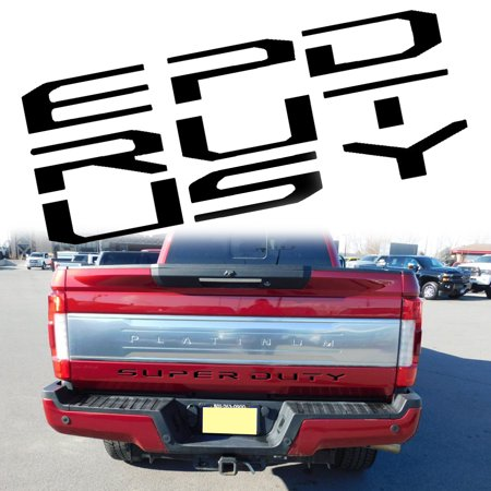 - Xotic Tech Letters Decal Emblem Tailgate Sticker for Ford F150 F250 F350 F450 F550 Super Duty 2017+, Glossy Black