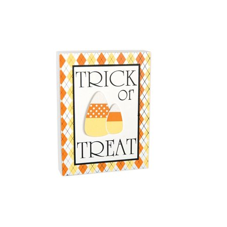 Adams Halloween Decor - Trick or Treat Candy Corn Sitter