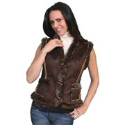 Scully 8007-ESP-M Honey Creek Womens Vest, Espresso - Medium