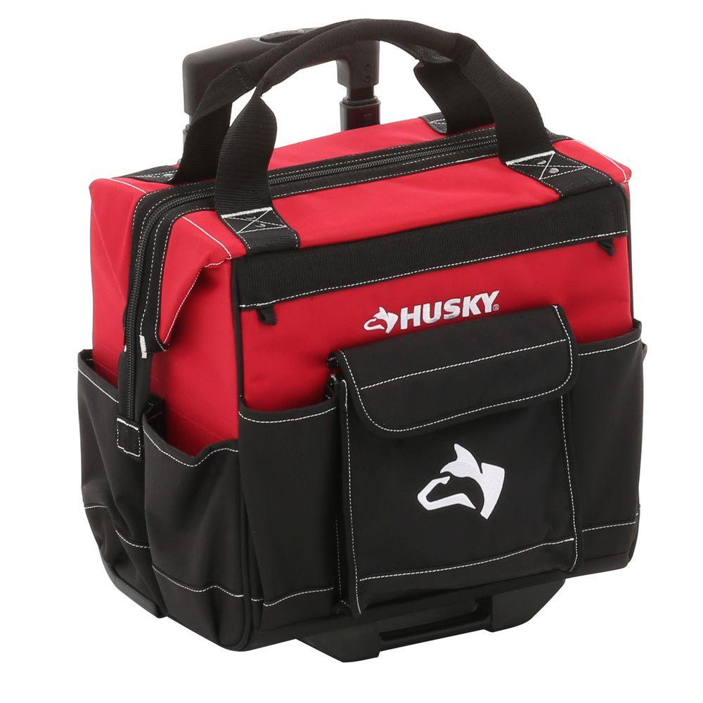 Husky Rolling Tool Box 14 Inch Portable Toolbox Chest Tote Bag Pouch  Organizer GP 44316AN13