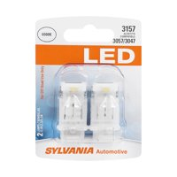 Sylvania 3157 White LED Automotive Mini Bulb, Pack of 2.