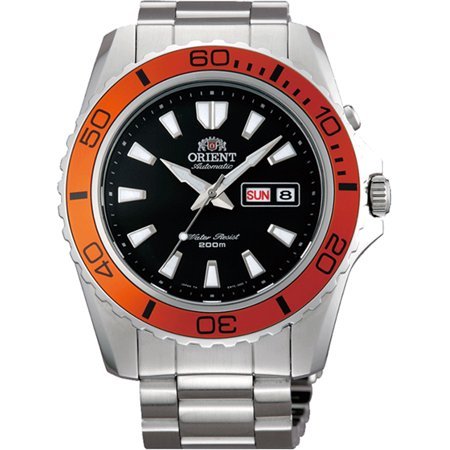 ORIENT FEM75004B9,Men's MAKO,Mechanical Movement,Stainless Steel,Screw Crown,Day,Date,200m WR Big Crown Pointer Date Watch