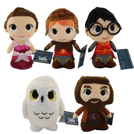 Funko SuperCute Plushies - Harry Potter S2 - SET OF 5 (Harry, Ron, Hermione, Hedwig & Hagrid) - Harry Potter Hedwig Plush