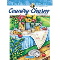 Dover Publications Country Charm Adult Coloring Book