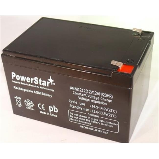 PowerStar AGM1212-80 Peg Perego Gator Polaris Gaucho Hummer Battery 12V, 12Ah Replacement Battery