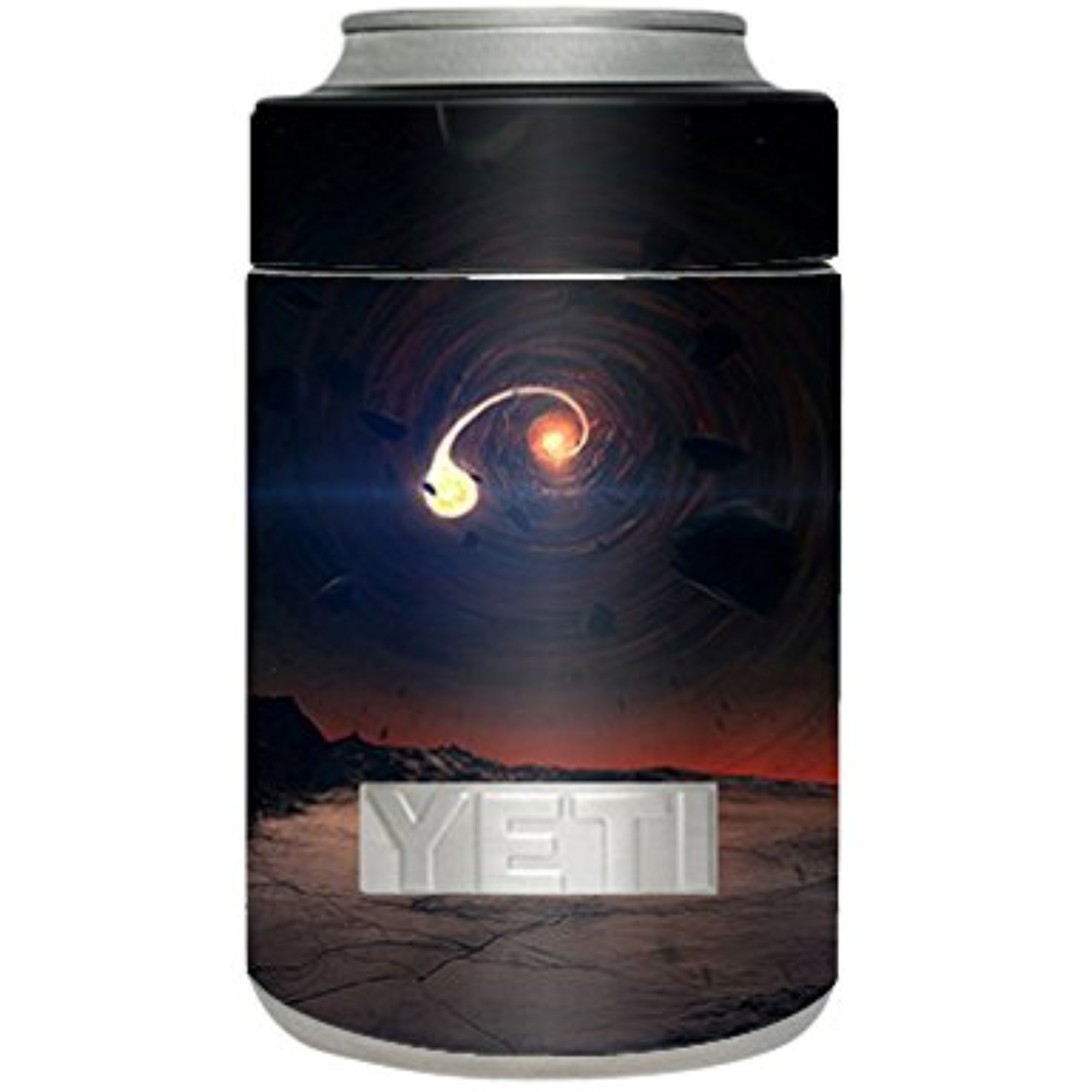 Skin Decal Vinyl Wrap for Yeti Rambler Colster Stickers Skins Cover Cup / black hole scene